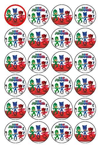 24 x PJ Máscaras Cupcake de tartas