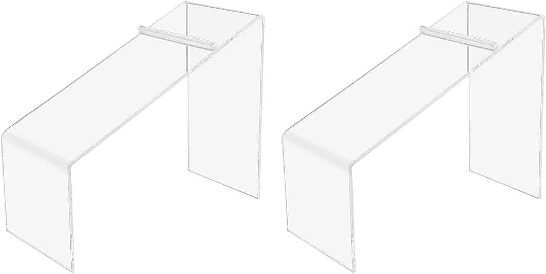 Marketing Holders Slanted Premium Acrylic Shoe Display Clear 7
