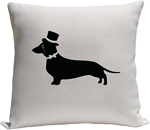 4WoodenShoes Fancy Dachshund Throw Pillow