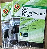 Duck Replacement Air Conditioner Foam Filter, 24-inch by 15-inch by 1/4-inch,...