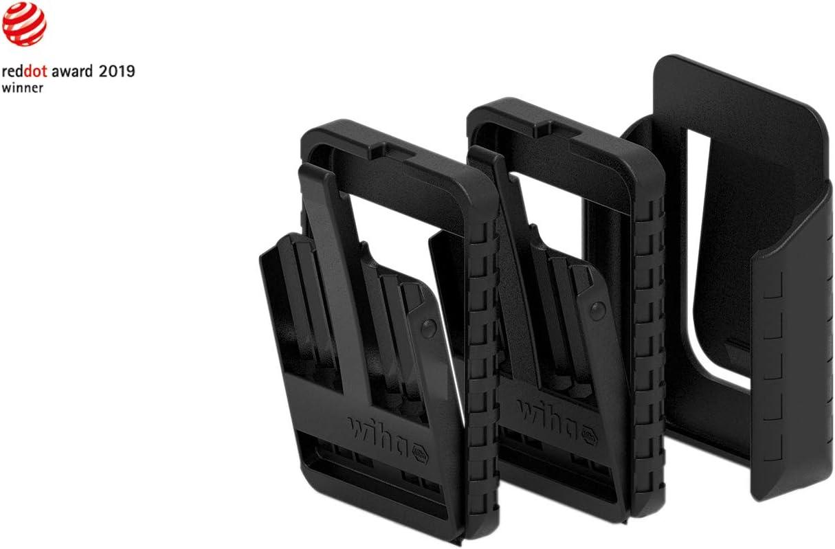 Wiha 43164 slimBit color negro Juego de 2 puntas de destornillador con soporte para cintur/ón vac/ías