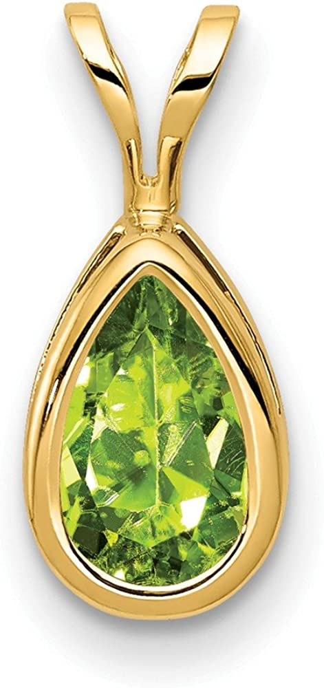 B00B5MJ120 14k Yellow Gold 8x5mm Pear Green Peridot Bezel Pendant Charm Necklace Gemstone Fine Jewelry For Women Gifts For Her 61o7RnSPg1L.UL1000_