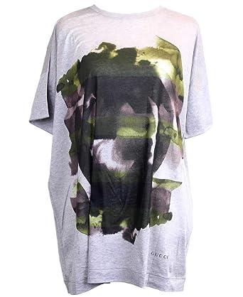 ded9eb40aefd Gucci Women's MultiColor Cotton Floral Oversize Top T-Shirt 297459 5370  (Size ...