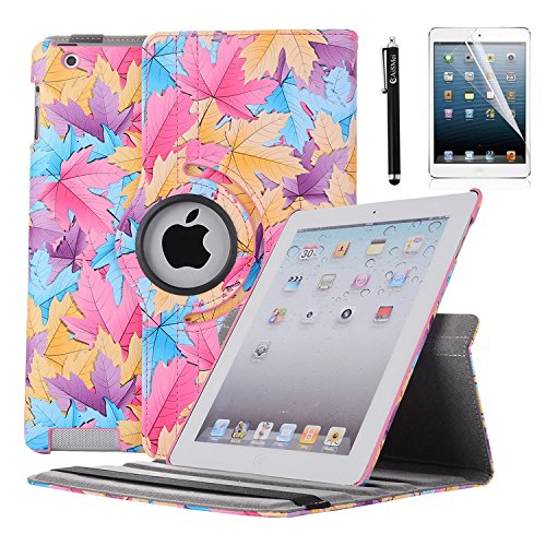 Smart Leather Cover Case for Apple iPad 2/3/4 (Hot Pink) - 2