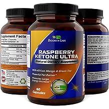 Raspberry Ketones + African Mango Weight Loss Pills for Women & Men Fat Burning Dietary Supplement Capsules Pure Apple Cider Vinegar Antioxidant Vitamin Rich Green Tea by Biogreen Labs