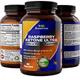 Raspberry Ketones + African Mango Weight Loss Pills for Women & Men Fat Burning Dietary Supplement Capsules Pure Apple Cider Vinegar Antioxidant Vitamin Rich Green Tea by Biogreen Labs