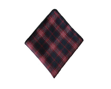 RongShi retro raya bolsillo bufanda hombres pañuelo toalla algodón ...