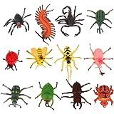 ROSENICE 12pcs Mini Insect Bug Animal Figures Toys Joke Trick Gag Toy by ROSENICE