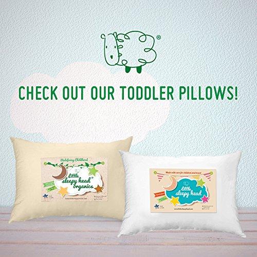 Down-like Fill Organic Cotton Ivory 13 X 18 Little Sleepy Head Toddler Pillow