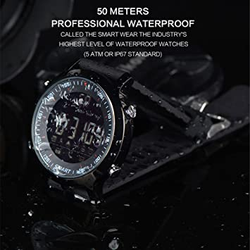 Amazon.com: Elftear EX18 Smart Watch Men Sport Watch 5ATM Waterproof Bluetooth 4.0 Smartwatch Call Reminder Camera Remote Control Luminous Dial Watches for ...