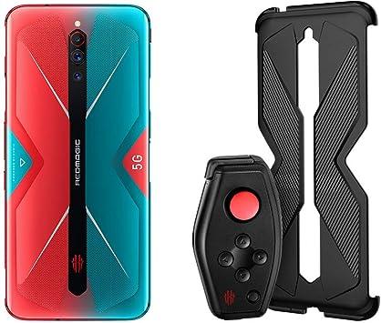 Nubia RedMagic 5G Teléfono 12GB RAM + 256GB ROM   Gaming Phone   Smartphone  Versión de la EU teléfono móvil(Rojo+Azul ) + (Gamepad + Funda de protección para el Mango): Amazon.es: Electrónica