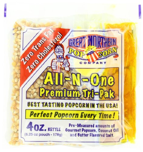 4100 Great Northern Popcorn 4 Ounce Premium Popcorn Portion Packs, Case of 24 -