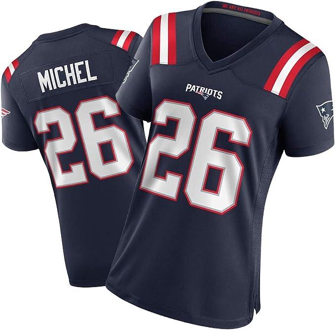 New England Patriots #26 - Camiseta de rugby de Sony Michel ...