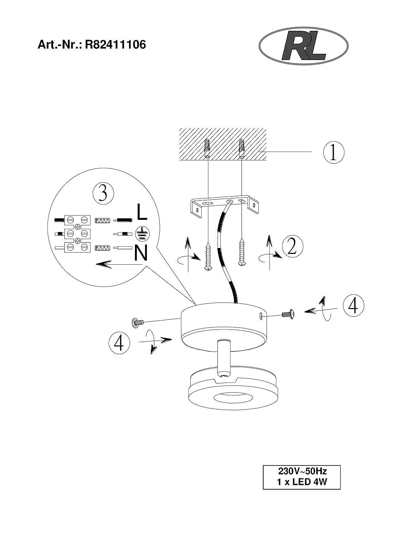 reality leuchten wand deckenspot 1x 4 w smd led inklusive durchmesser 9 cm h he 15 5 cm. Black Bedroom Furniture Sets. Home Design Ideas