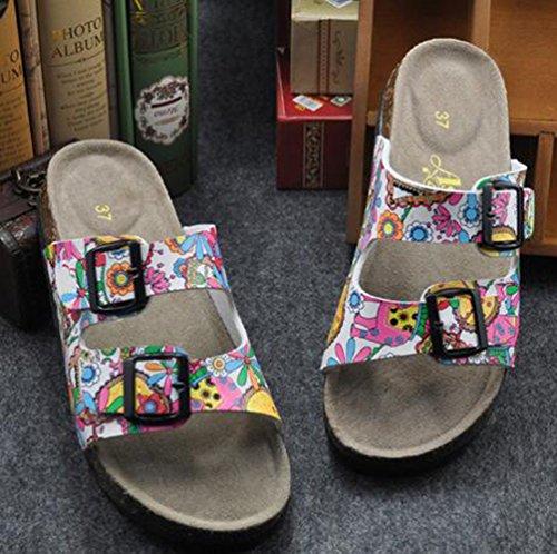 SK Studio - Zapatillas de estar por casa para hombre Rosa