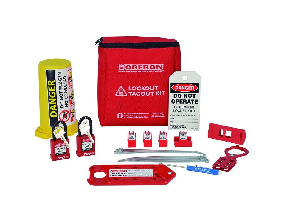 Oberon LOTO-EL-BAG Electrical LOTO Bag, Red (24 Piece) (Pack of 24)