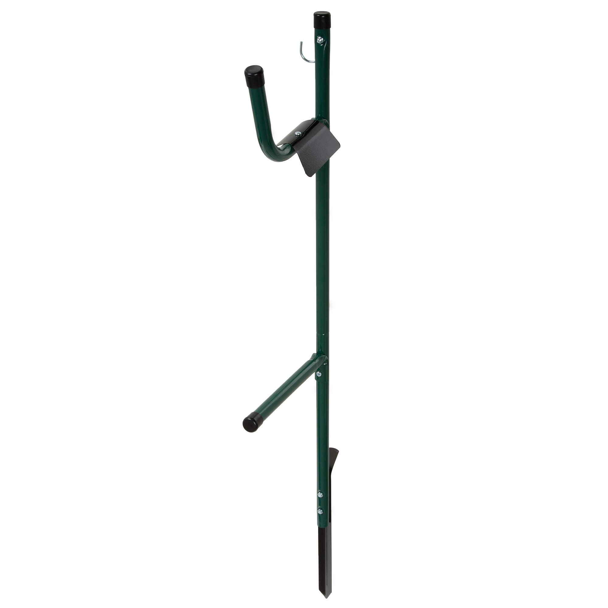 Stalwart Garden Hose Holder Caddy- Easy Install Outdoor Free Standing Metal Rack for Hose Management, Store and Organize Water Hose in Yard