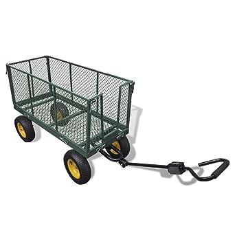 vidaXL Max 350 kg Carrito Jardín Carretillas Transporte Carro de Mano Construcción