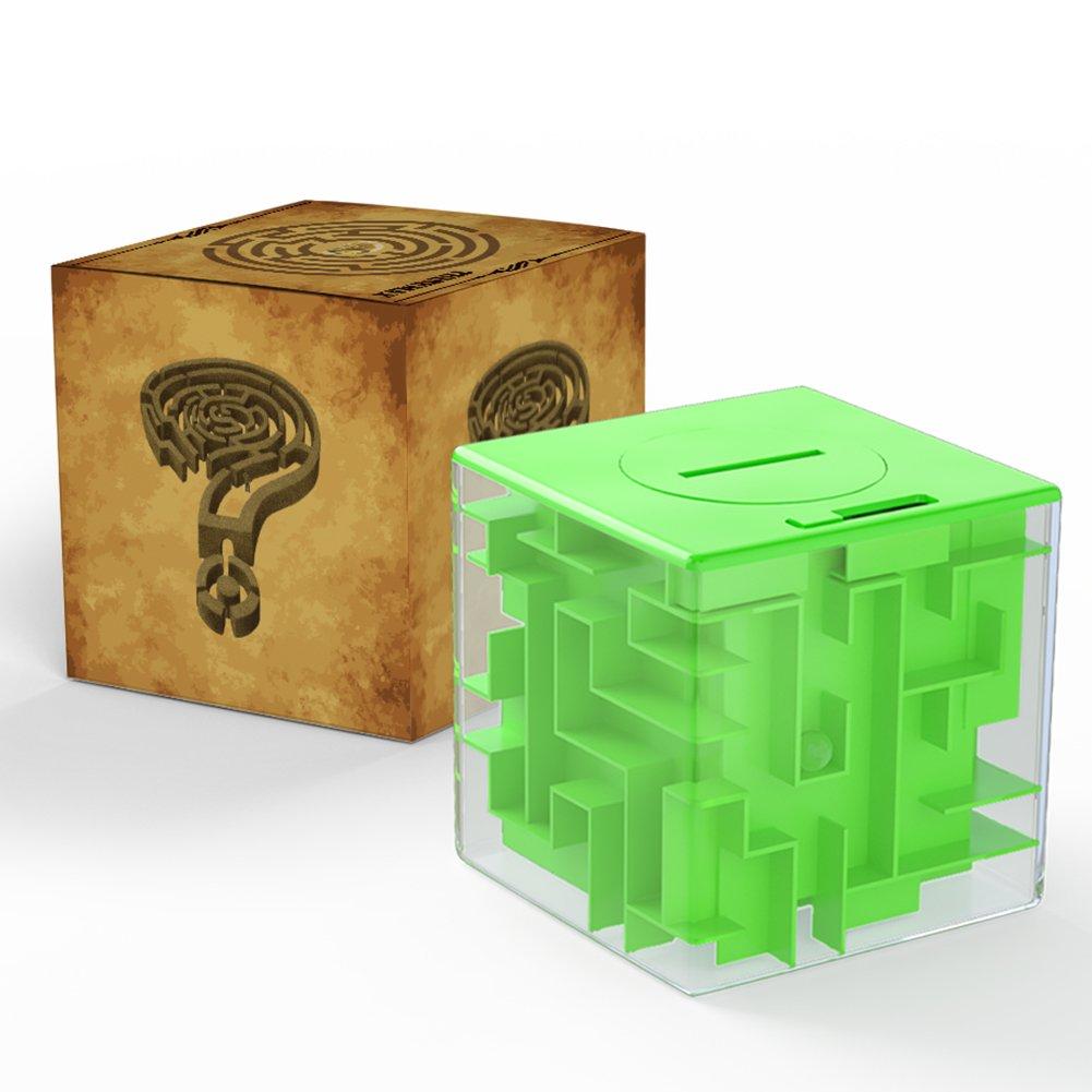 かわいい! (Green) - Acekid Maze Money Maze Bank B075ZSVD6F 3D - Puzzle Coin Box Game Saving Maze For Kids Toys Cube Gifts (Green) B075ZSVD6F, 洋服小物 なでしこ:4e3b6dce --- clubavenue.eu