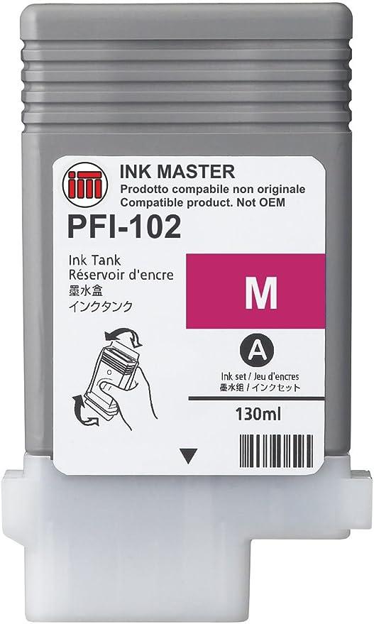 Ink Master Remanufactured Cartridge Canon Pfi 102 Magenta For Canon Ipf 500 510 600 605 610 650 655 700 710 720 750 755 760 765 Lp17 Lp24 Elektronik