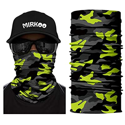 MIRKOO Breathable Seamless Tube 3D Premium Camo Half Face Mask, Windproof Dust-proof UV Sun Protection Bicycle Bike Motorcycle Face Mask for Cycling Hiking Camping Climbing Fishing Hunting(744): Automotive