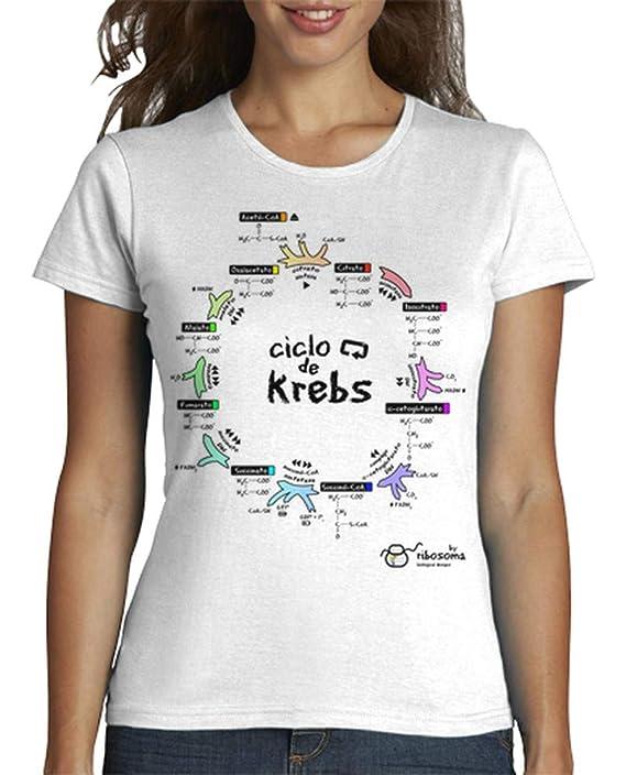 Camiseta biologia Mujer con Ciclo de Krebs