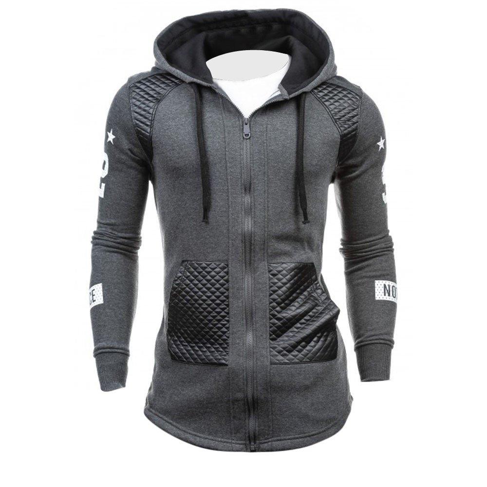 Homme Sweats-Shirt à Capuche Chaud Hiver Hooded Sweatshirt Chemise Zipper Tops Blouse Outwear pour Hommes Sweat Covermason