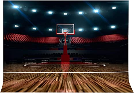 Lylycty High End Basketball Court Background Indoor Photography Backdrop Sports Club Studio Photo Backdrop Props 7x5ft Room Mural Backdrop Pb579 Camera Photo