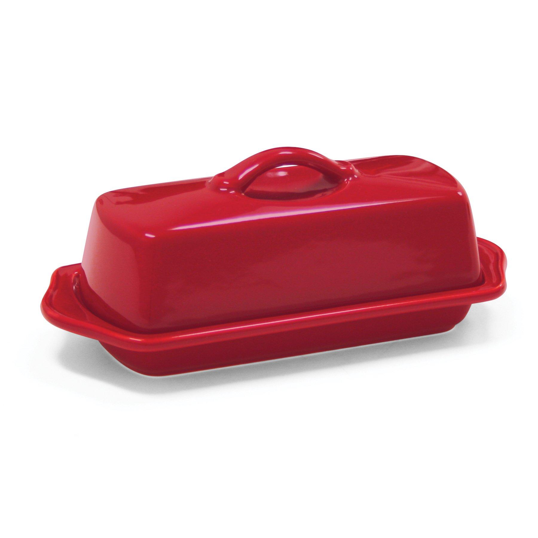 Chantal 93-TVBD-1 RR Large Butter Dish, True Red
