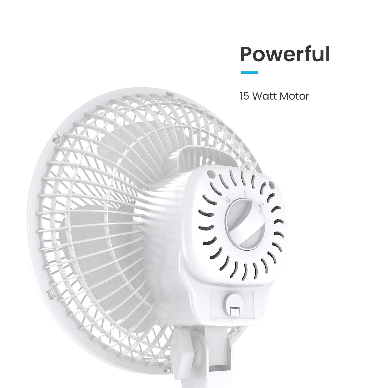 para el Hogar Pro Breeze Mini Ventilador Profesional con Clip la Oficina y el Escritorio la Cama Peque/ño Ventilador El/éctrico con Operaci/ón Ultra Silenciosa y 2 Configuraciones de Velocidad