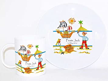 Personalised Dinner Set. Baby GiftToddler Gift Toddler Dinner Set Pirate Treasure & Personalised Dinner Set. Baby GiftToddler Gift Toddler Dinner ...