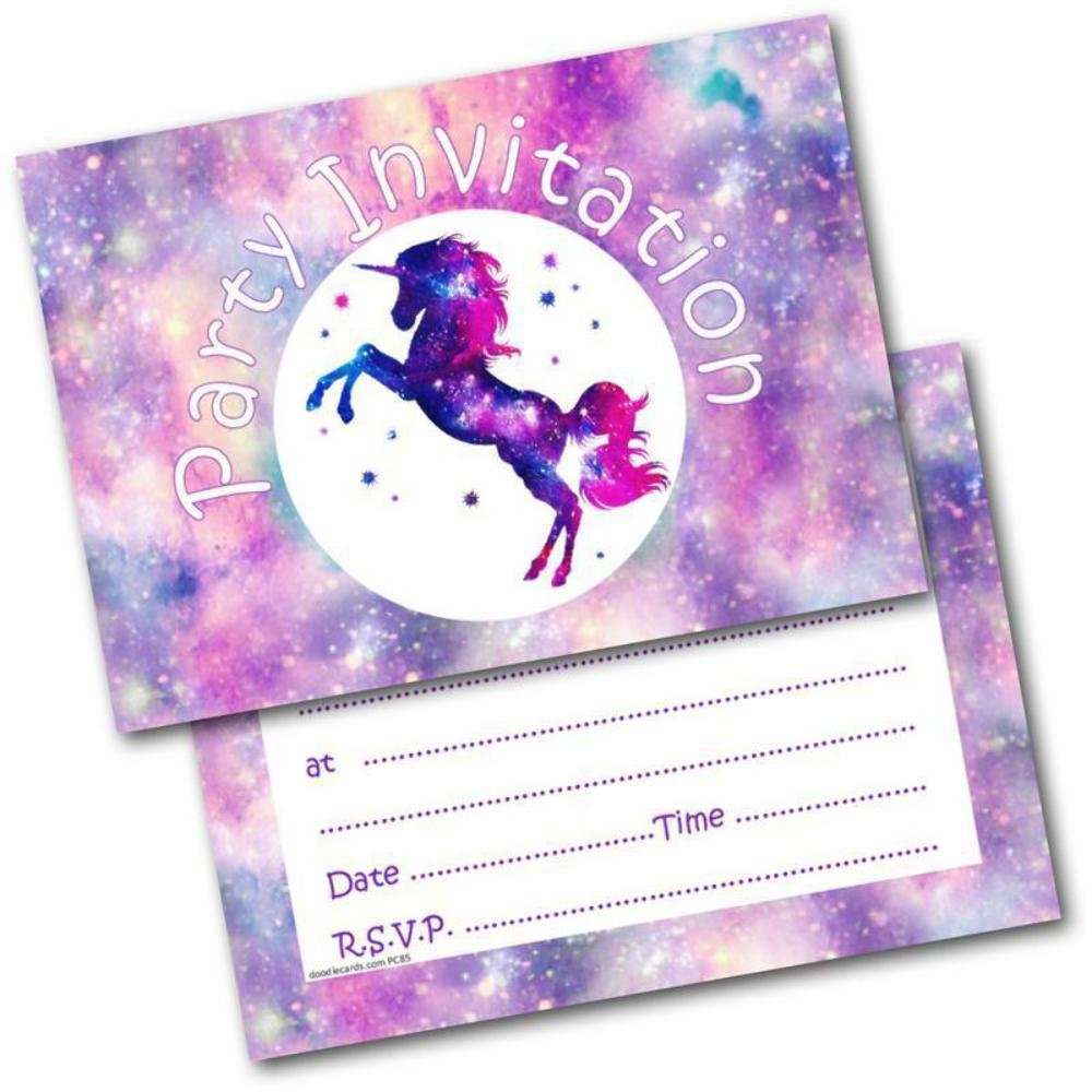 6th Birthday Party Invitations Age 6 Female Girls Childrens Pack Of 20 Invites Doodlecards