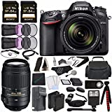 Nikon D7200 DSLR Camera with 18-140mm Lens + Nikon AF-S DX NIKKOR 55-300mm f/4.5-5.6G ED VR Lens + Battery + Charger + Sony 64GB SDXC Card + HDMI Cable + Remote + Tripod + Flash Bundle Review