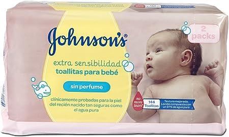 Johnsons Baby Toallitas Bebé Sensitive - 2 Pack: Amazon.es: Salud y cuidado personal