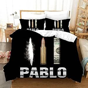REALIN Funda Nórdica Narcotraficante Colombiano Juego De Ropa De Cama Pablo Escobar Colcha 2/3/4PCS Fundas De Edredón Nórdico/Almohada/Sábanas,para Cama 90/135/150/180 (Cama 80/90(140×210cm)-3PCS,B): Amazon.es: Hogar