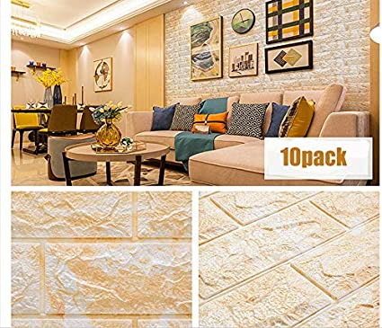 Wallpaper 3D Marble Foam Wall Panel Faux Brick Peel and Stick Granite Tiles  Textured 10 Pack (30 31'' L x 27 56'' W)