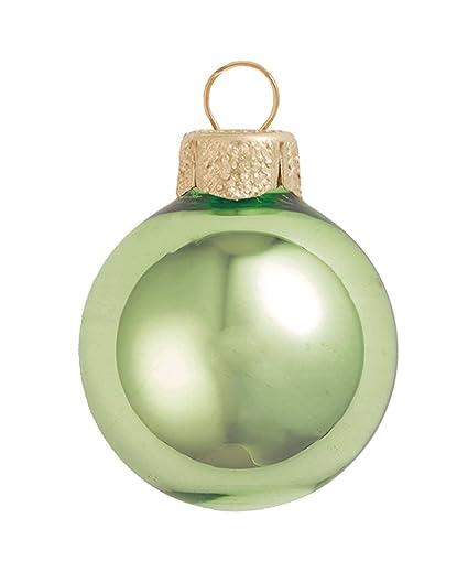 Amazon Com 28ct Shiny Lime Green Glass Ball Christmas Ornaments 2