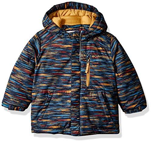 Columbia Little Boys' Toddler Lightning Lift Jacket, Blue Heron Space Dye Print, (Boys Parka)