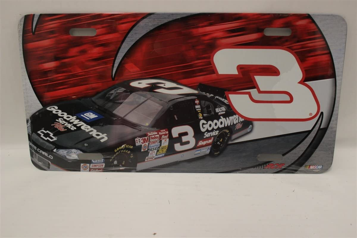 Dale Earnhardt #3 Metal Novelty License Plate Tag