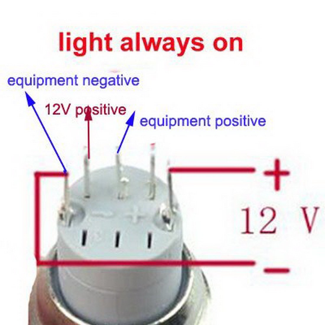 Wiring A Button Switch Manual Guide Diagram Painless Starter Us Solid 16mm Led Latching 55 Images How To