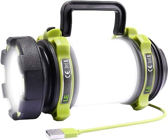 Escursionismo 500lm con Tecnologia COB LED emergenze Lanterna Pieghevole alimentata a Batteria Resistente allAcqua per Pesca Notturna Moobibear 2 x Lanterna da Campeggio con Base Magnetica
