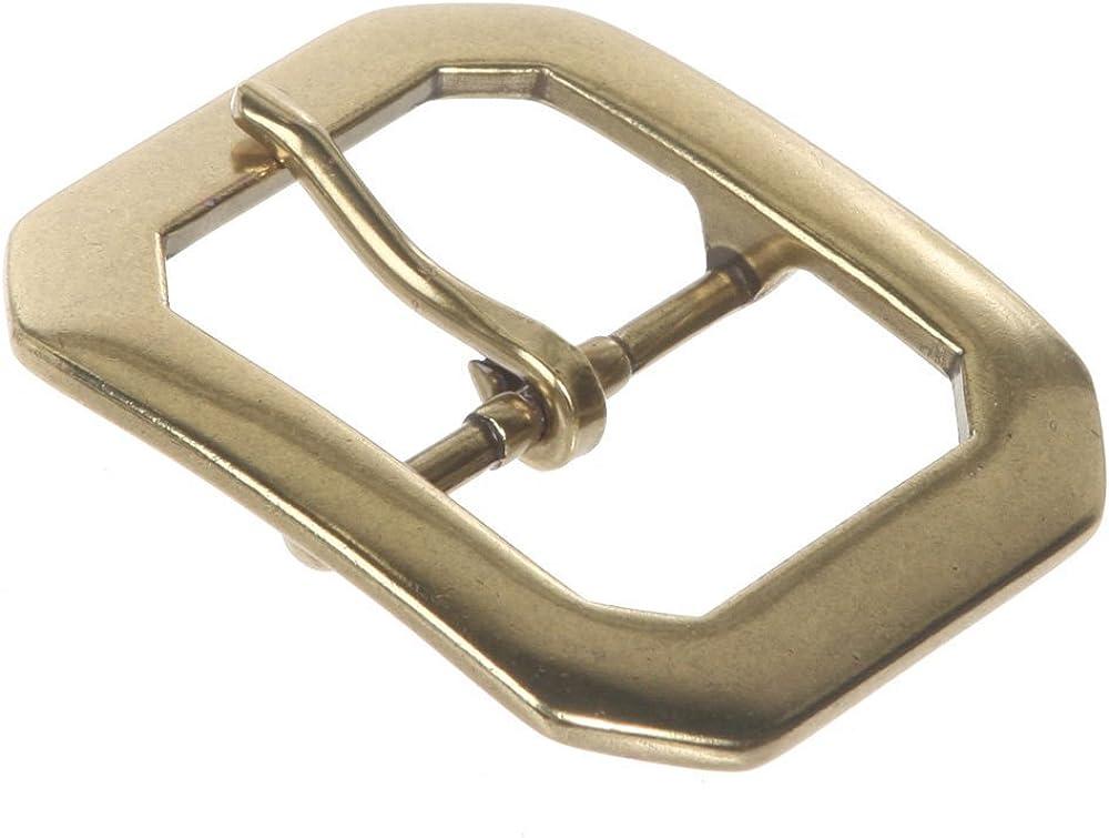 38 mm 1 1//2 Single Prong Hexagon Rectangular Belt Buckle