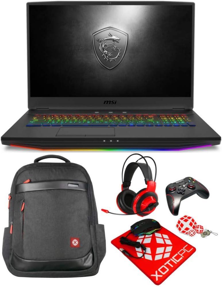 "MSI Enthusiast GT76 Titan DT 17.3"" 4K/UHD Intel Core i9 10th Gen 10900K (2.40 GHz) GeForce RTX 2080 Super 128GB Memory 2X 2TB 970 EVO Plus NVMe SSD Windows 10 Pro 10SGS-055 Gaming Laptop"