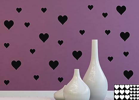Kleb drauf 24 cuori sticker per la decorazione di pareti vetro