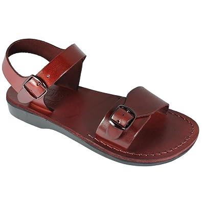 e8c3b1e1e7e10 Brown Genuine Leather Roman Jesus Sandals #001 Sizes EU 35-46