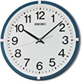 Seiko Plastic Wall Clock (Metallic Blue)