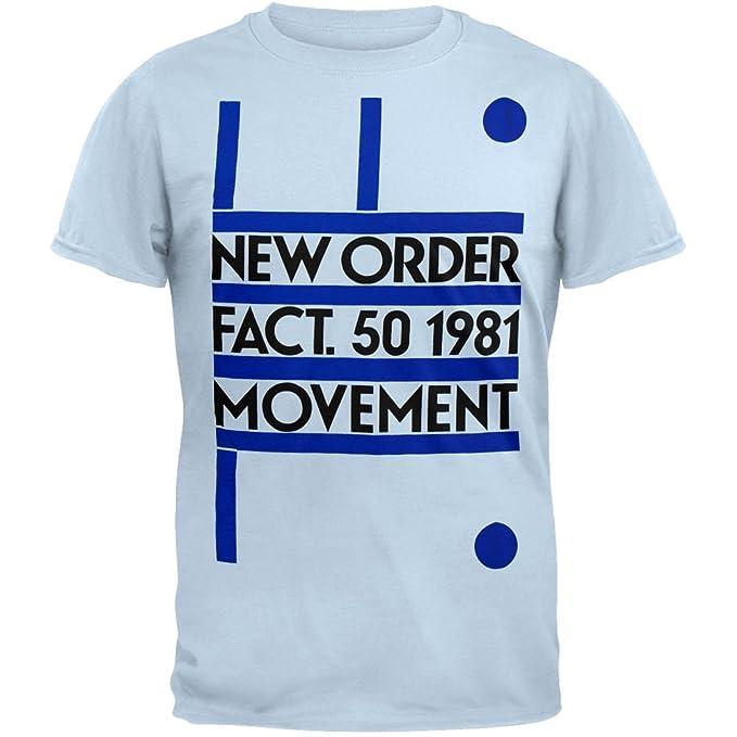 61dd694e312 New Order - Fact 50 1981 Movement Soft T-Shirt