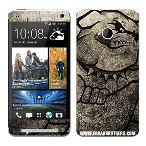 Diabloskinz B0095-0064-0007 Winston - Skin de vinilo para HTC One, diseño de perro fumando un puro, color negro