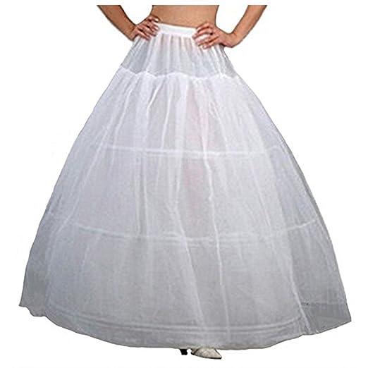 00a73f8c3ee5 Amazon.com: CUNOVA White 3 Hoops Crinoline Underskirt Petticoat Half ...