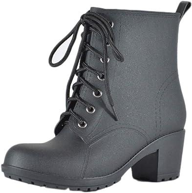 Amazon.co.jp: MAMRE Rain Boots, Heels